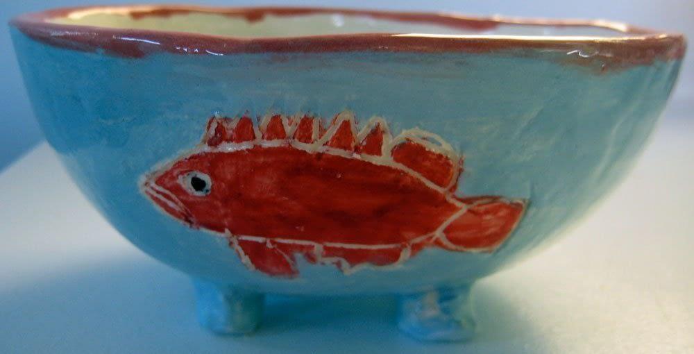 Red Fish Bowl Zion Levy Stewart Art