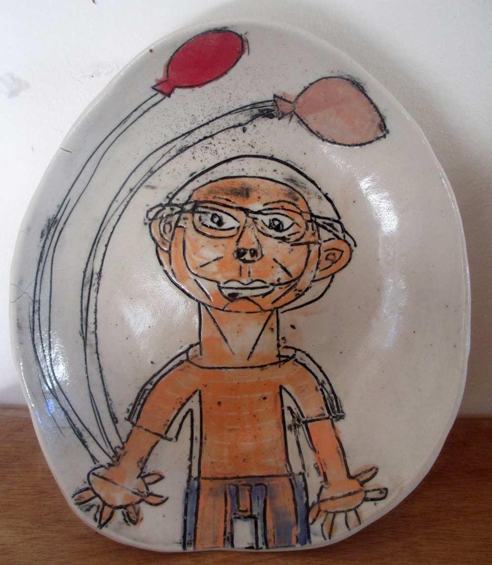 Balloon Bowl a Ceramic piece by Zion Levy Stewart an artist from Mullumbimby Australia