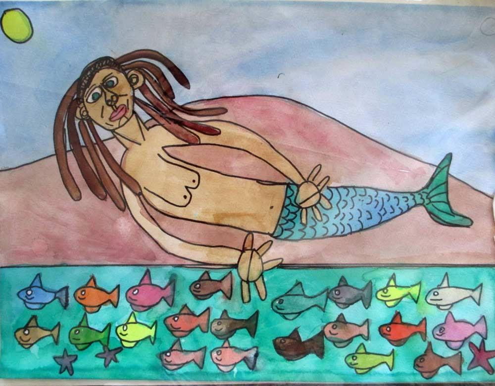 Moriah Mermaid Zionart Art Studio Mullumbimby Australia