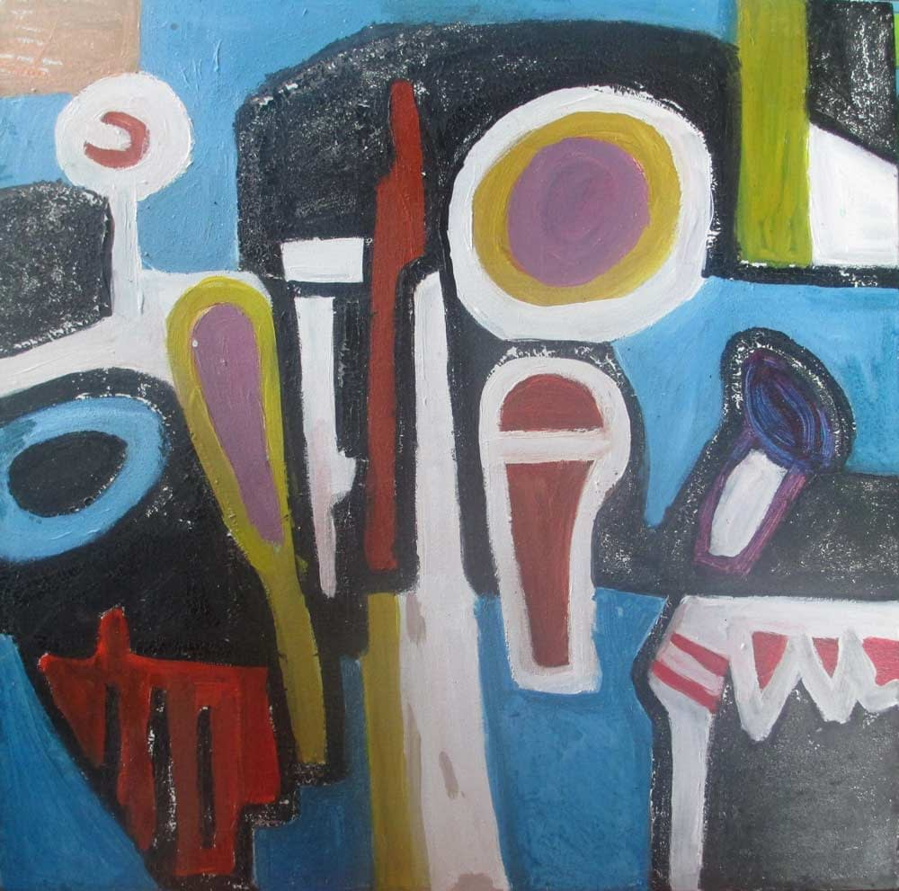 Instrument composition Abstract a Painting by Zion Levy Stewart an artist from Mullumbimby Australia