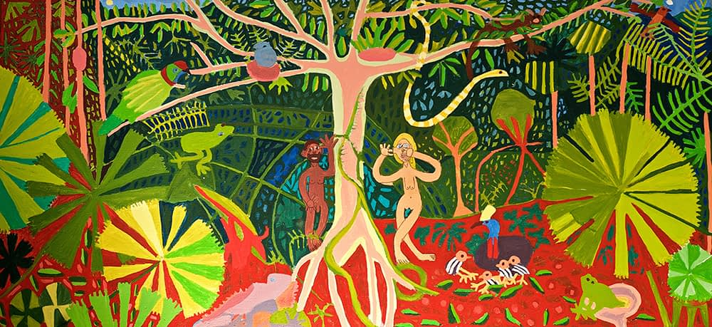 adam and eve in the rainforest Zion Levy Stewart Mullumbimby Australia