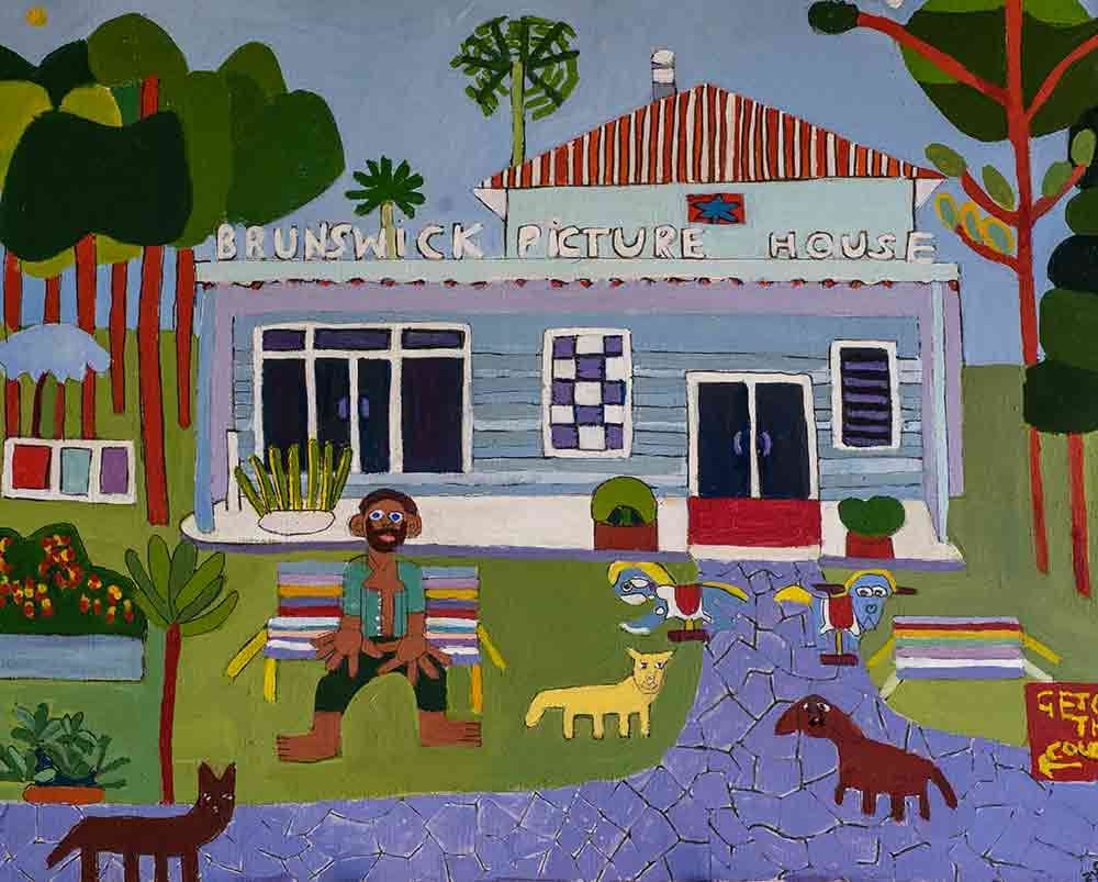Brunswick Picture House Acrylic on Canvas Zion Levy Stewart