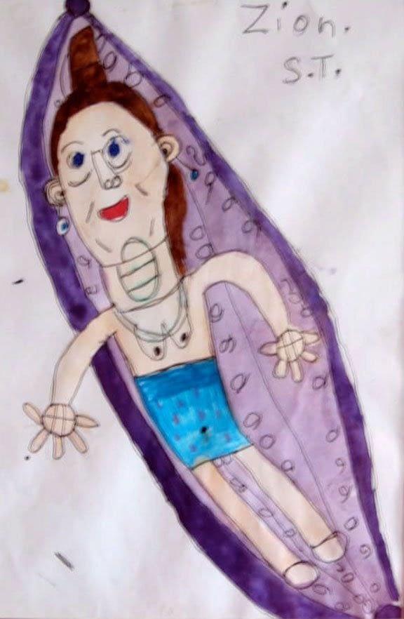 mum in a hammock zion levy stewart art