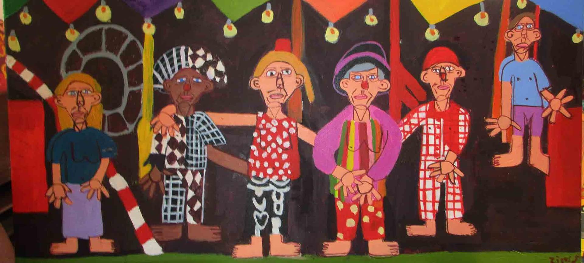 Spaghetti Circus Zion Levy Stewart Artist Mullumbimby Australia