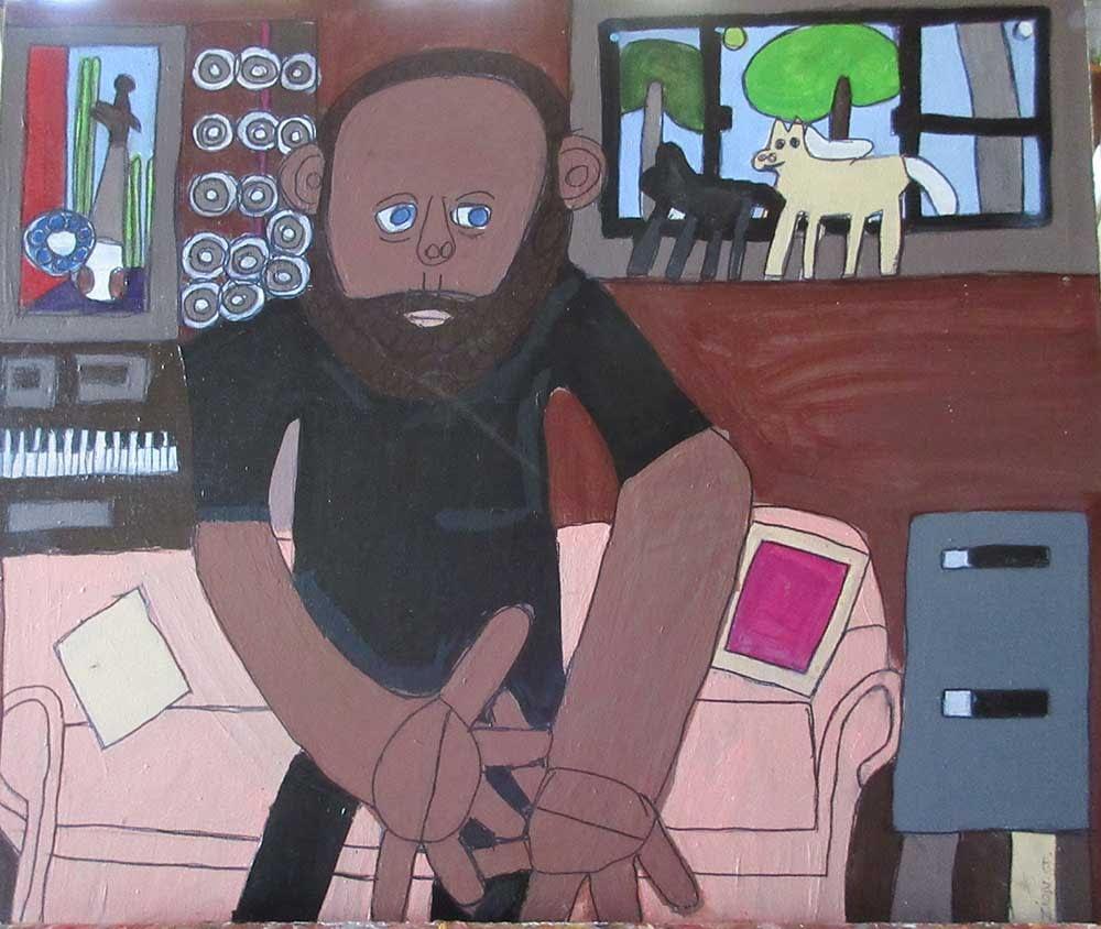 Zion Levy Stewart Painting Self Portrait
