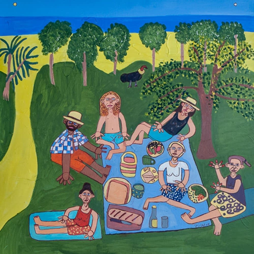 Seaside Picnic Zion Levy Stewart Acrylic on Canvas