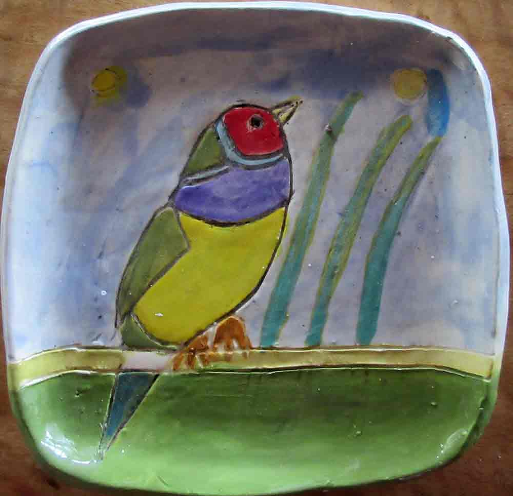 Gordon Finch Functional Ceramic Art Plate by Zion Levy Stewart Paradise Mullumbimby