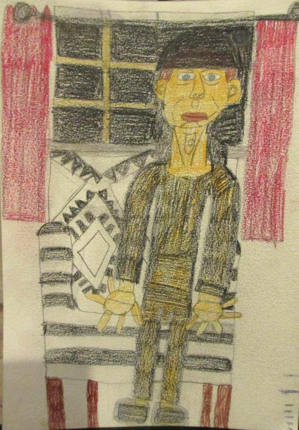 Jessie Drawing by Zion Levy Stewart an artist from Mullumbimby Australia