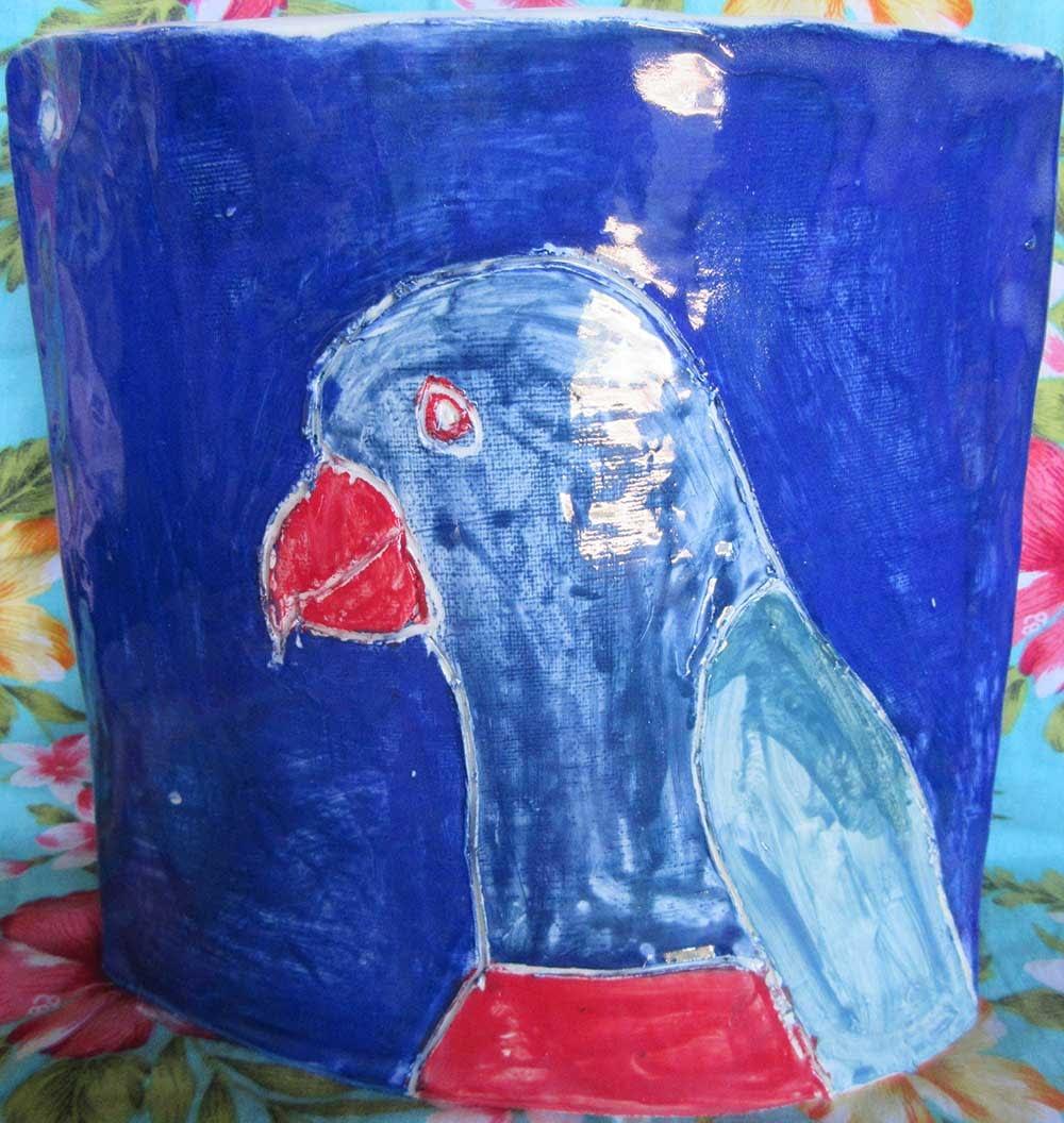 Parrot Vase Zion Stewart Levy
