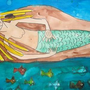 mermaid painting zion levy stewart