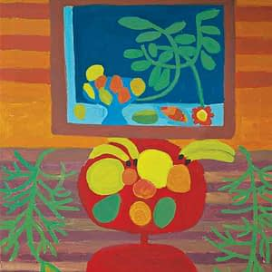 Fruit Still Life Greeting Card Zion Levy Stewart Artist