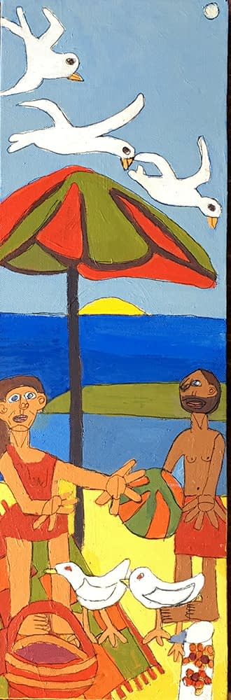 picnic at the beach by Zion Levy Stewart Acrylic on Canvas