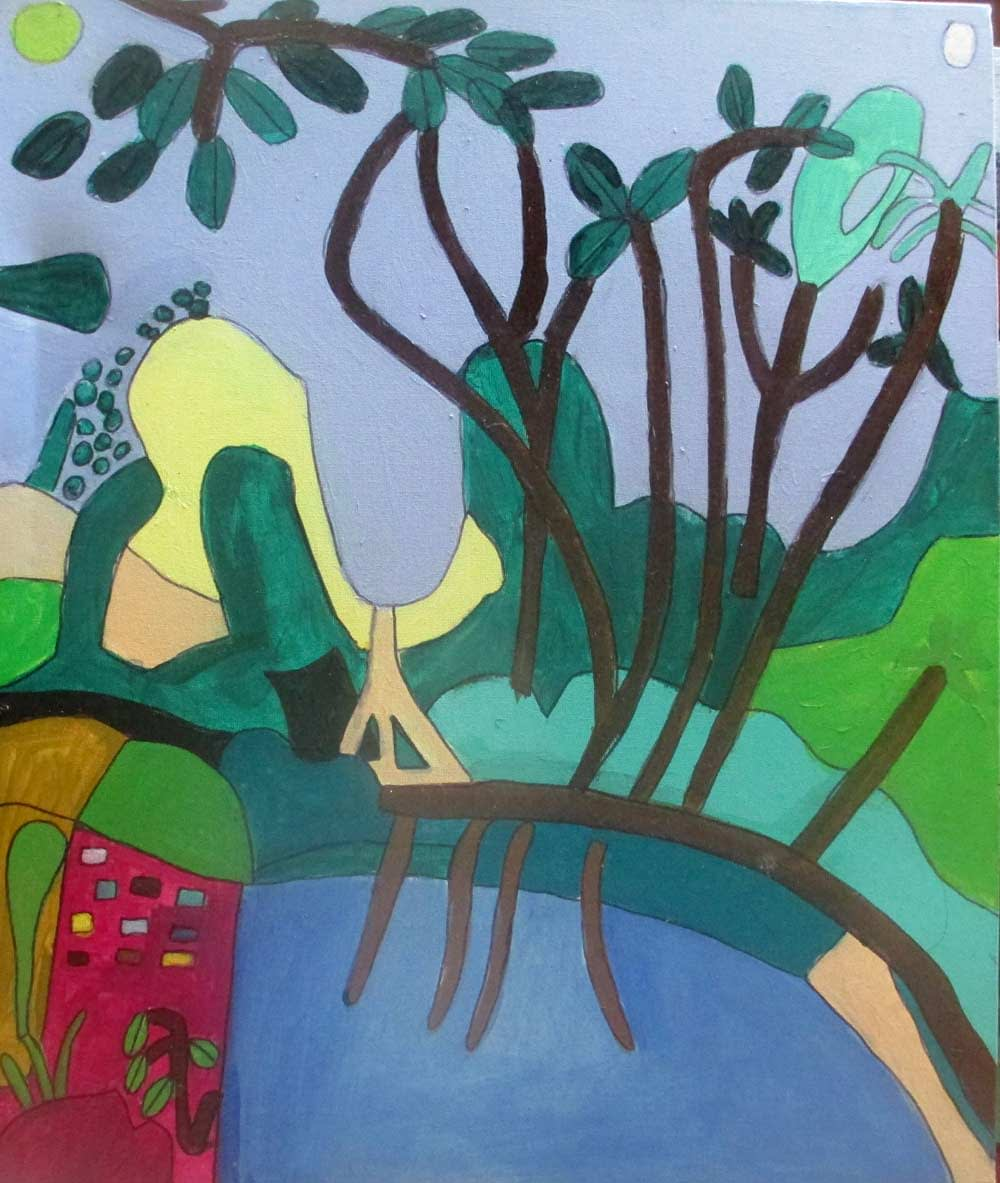 Fantasy Forest a Painting by Zion Levy Stewart an artist from Mullumbimby Australia