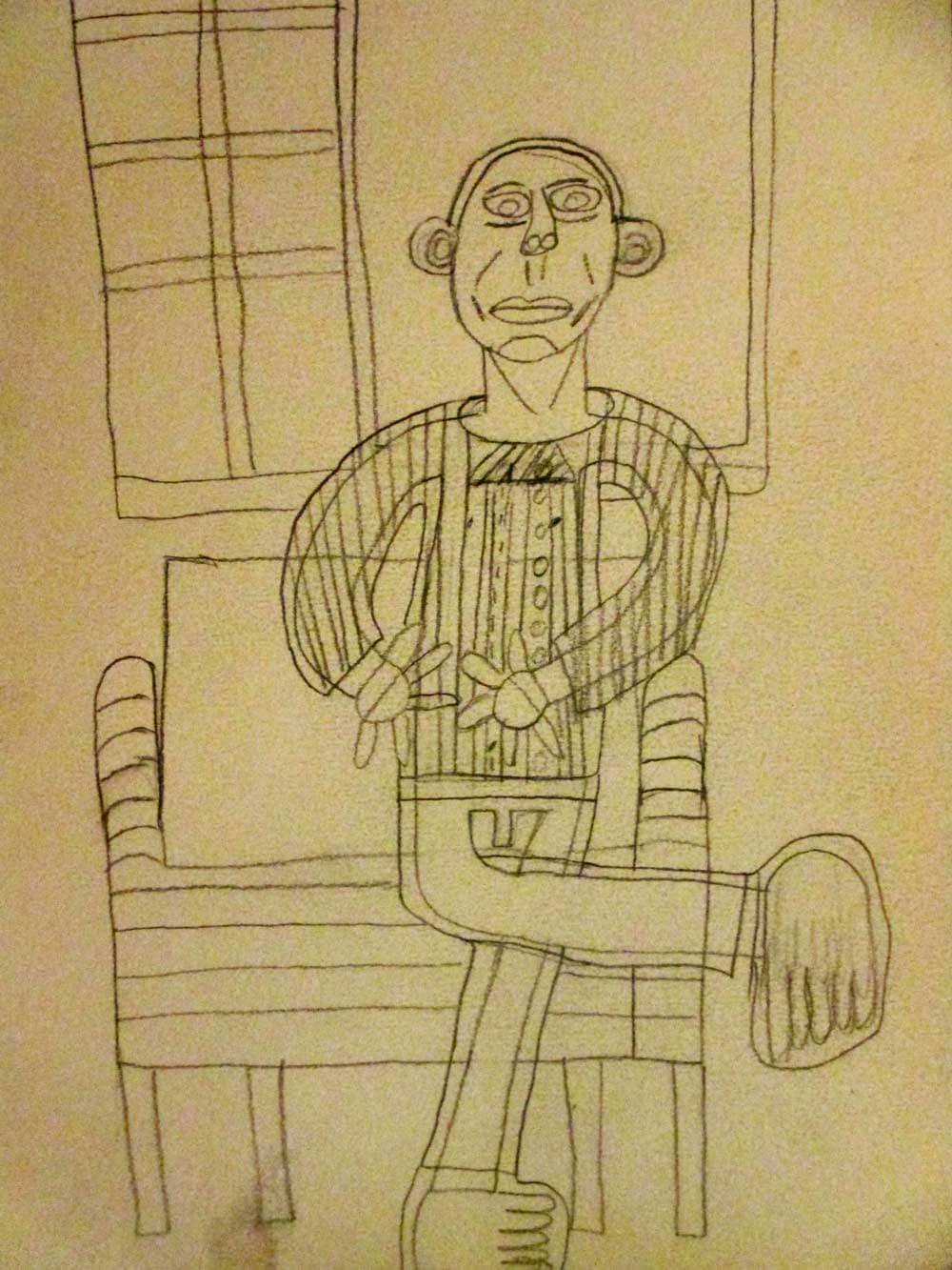 Carey Drawings by Zion Levy Stewart an artist from Mullumbimby Australia
