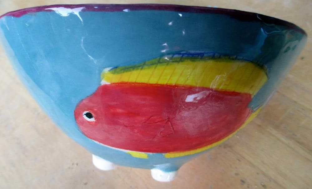 Fish Bowl Zion Levy Stewart Ceramic Art