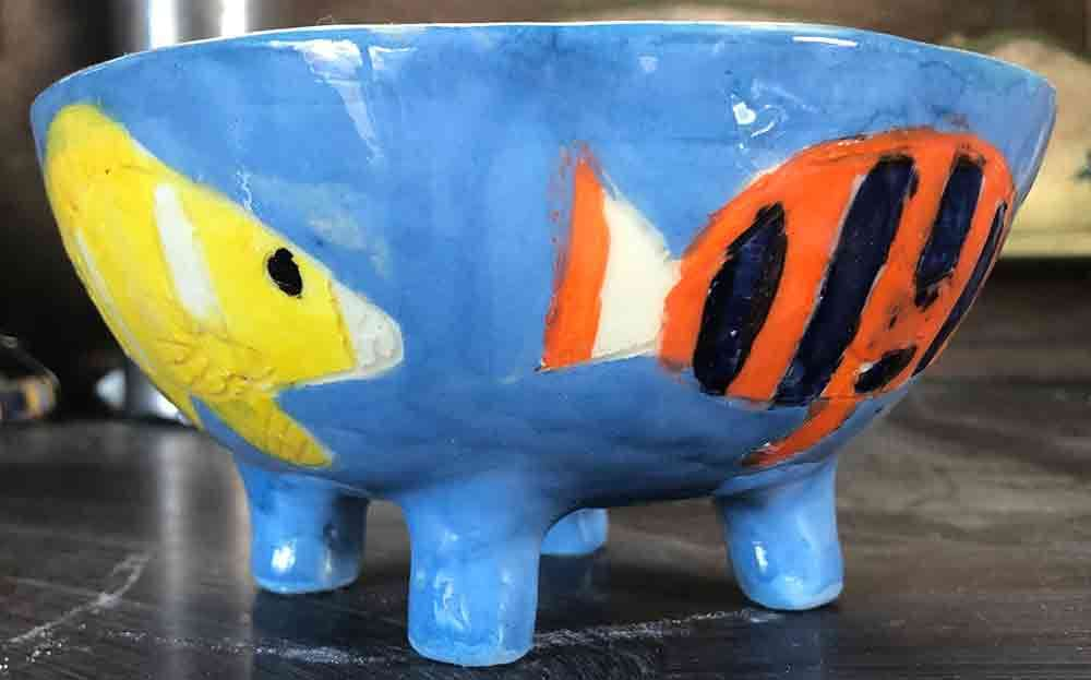 Fish Bowl ceramic Zion Levy Stewart Paintings and Ceramics Mullumbimby Australia