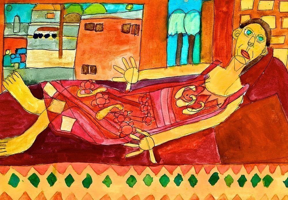 LA Life Pen and Wash Watercolour Zion Art Zion Levy Stewart Art with Heart