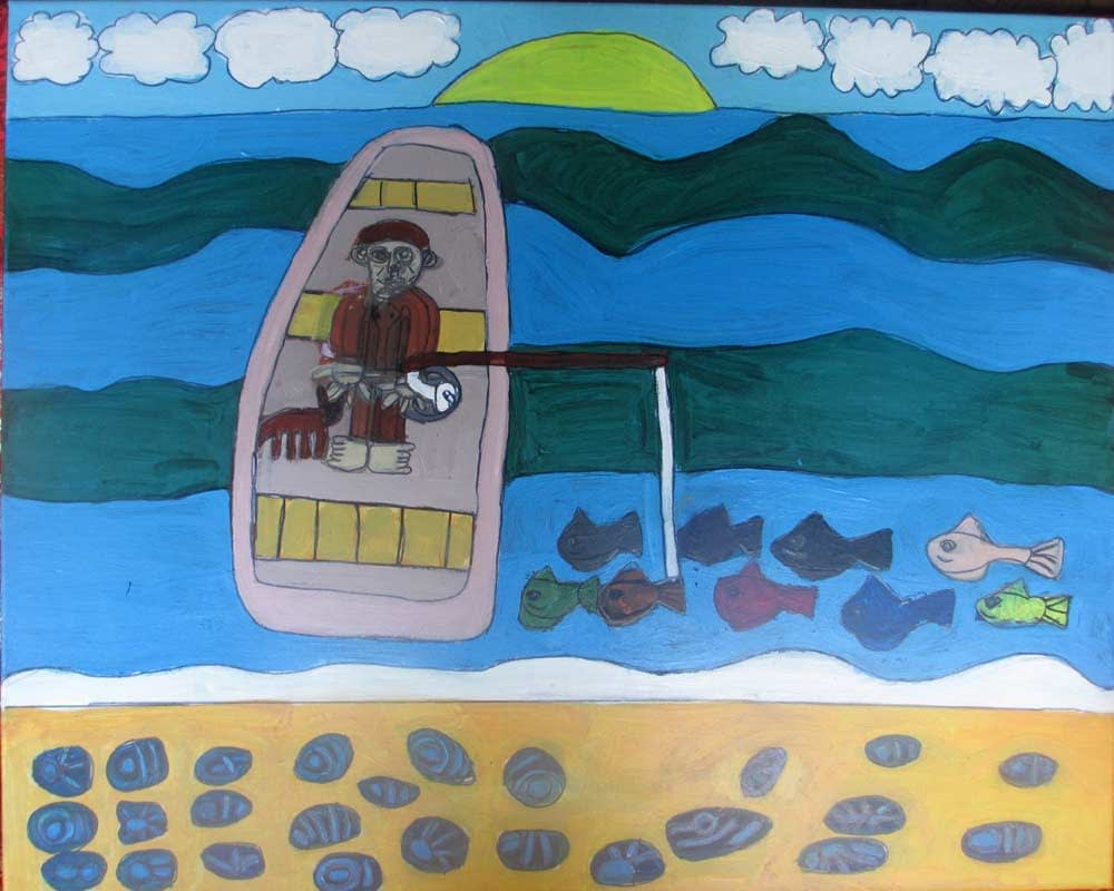 Gone Fishing Zionart Art Studio Mullumbimby Australia