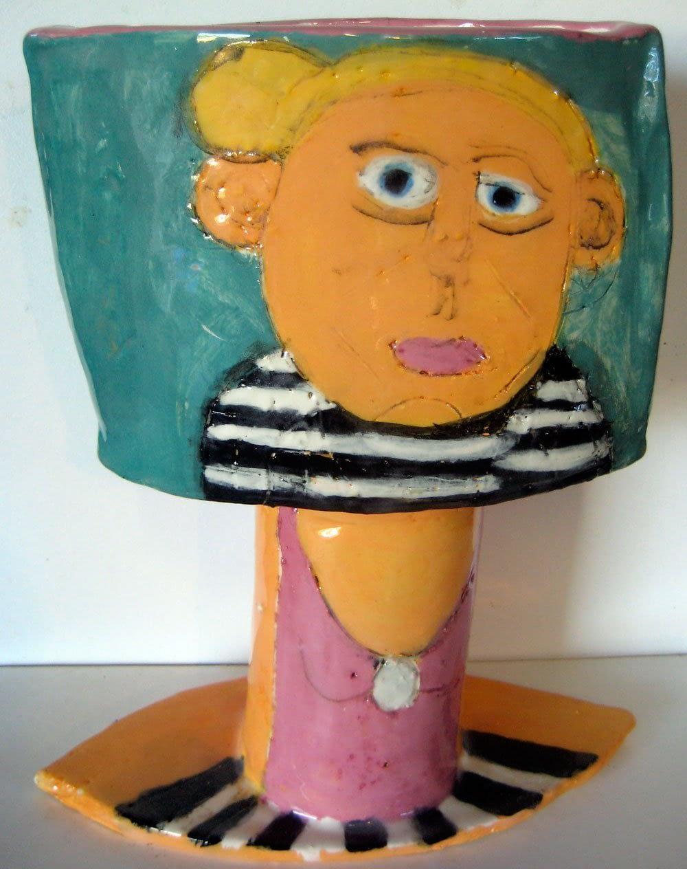 Portrait Pot Pam Zion levy Stewart Ceramic Art