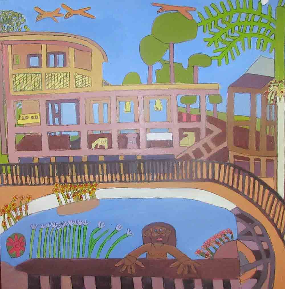 Zion Levy Stewart Swimming Pool Painting 2016