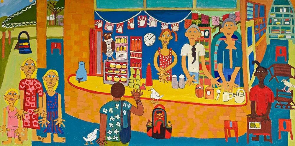 Brunswick health Food Shop Zion Levy Stewart Painting 2018